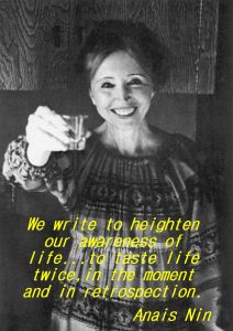 Anais Nin offering a toast